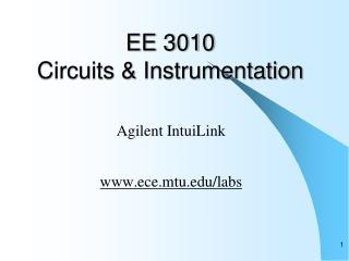 EE 3010 Circuits & Instrumentation