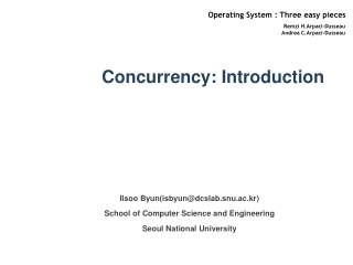 Concurrency: Introduction