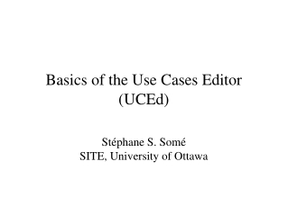 Basics of the Use Cases Editor (UCEd) 
