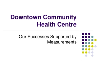 Downtown Community Health Centre