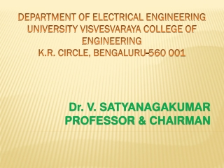 DEPARTMENT OF ELECTRICAL ENGINEERING  UNIVERSITY VISVESVARAYA COLLEGE OF ENGINEERING