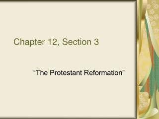 Chapter 12, Section 3