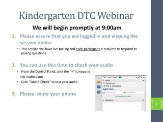 Kindergarten DTC Webinar