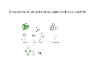 Electron counting rules and simple bonding descriptions for electron-poor materials