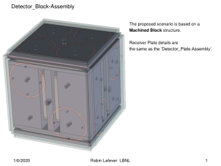 The proposed scenario is based on a  Machined Block  structure.  Receiver Plate details are