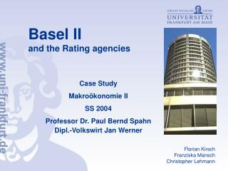 Basel II  and the Rating agencies