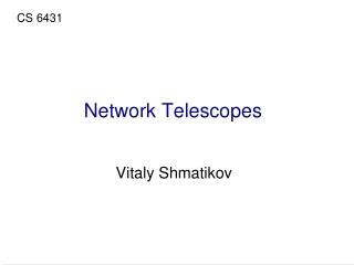 Network Telescopes