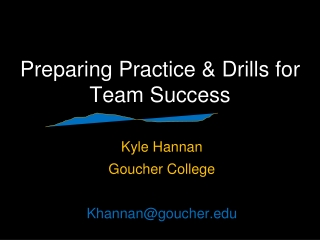 Preparing Practice & Drills for Team Success