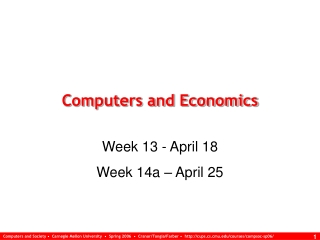 Computers and Economics