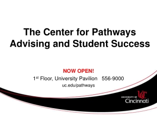 The Center for Pathways Advising and Student Success