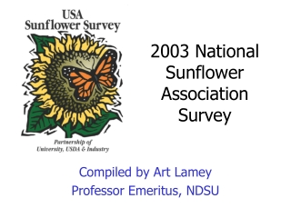 2003 National Sunflower Association Survey