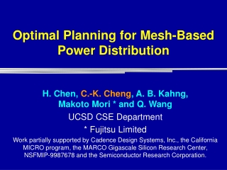 Optimal Planning for Mesh-Based Power Distribution