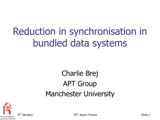 Reduction in synchronisation in bundled data systems
