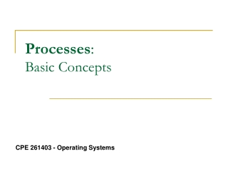Processes :  Basic Concepts