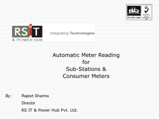 Automatic Meter Reading  for Sub-Stations & Consumer Meters