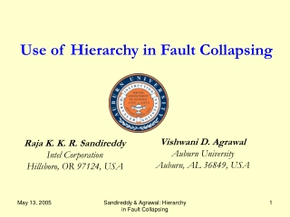 Use of Hierarchy in Fault Collapsing