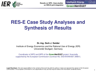 RES-E Case Study Analyses and Synthesis of Results