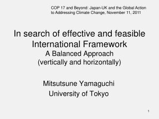 Mitsutsune Yamaguchi University of Tokyo