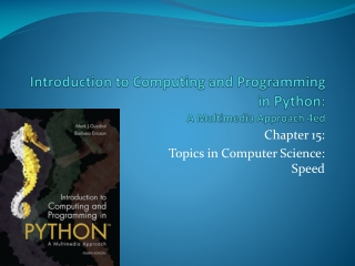 Introduction to Computing and Programming in Python:  A Multimedia Approach 4ed