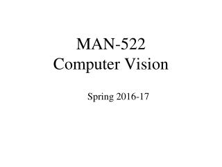 MAN-522 Computer Vision