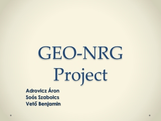 GEO-NRG Project