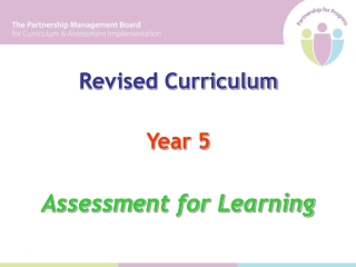 Revised Curriculum Year 5 Assessment for Learning