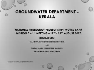 GROUNDWATER DEPARTMENT - KERALA