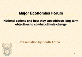 Presentation by South Africa