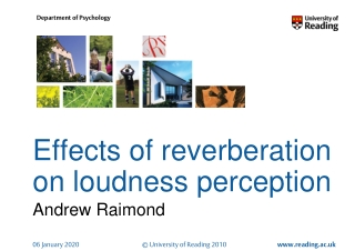 Effects of reverberation on loudness perception