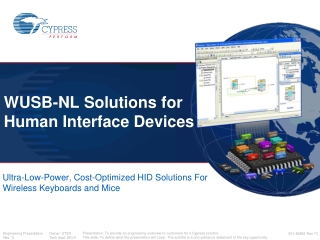 WUSB-NL Solutions for Human Interface Devices
