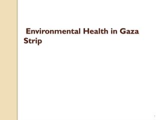 Environmental Health in Gaza Strip