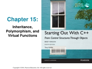 Chapter 15: Inheritance, Polymorphism, and Virtual Functions
