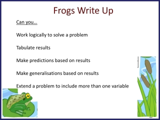 Frogs Write Up