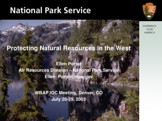 Protecting Natural Resources in the West Ellen Porter