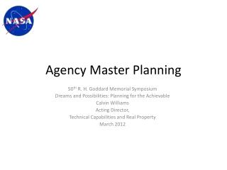Agency Master Planning