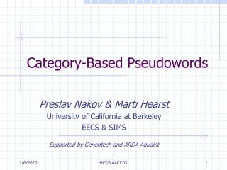 Category-Based Pseudowords