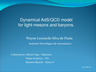 Wayne Leonardo Silva de Paula  Instituto Tecnológico de Aeronáutica