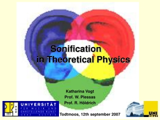 Sonification  in Theoretical Physics