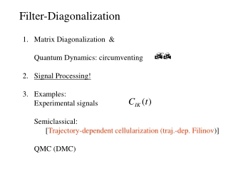 Filter-Diagonalization