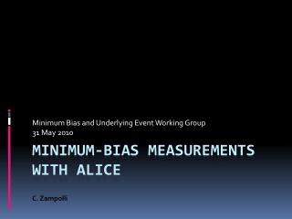 Minimum-bias measurements with  alice