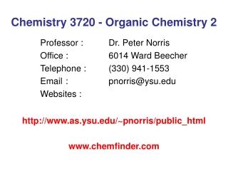 Chemistry 3720 - Organic Chemistry 2