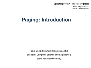 Paging: Introduction