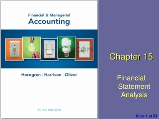 Chapter  1 5 Financial Statement Analysis