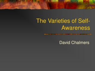 The Varieties of Self-Awareness