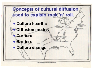 Concepts of cultural diffusion used to explain rock 'n' roll.