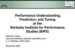 Katherine Yelick Lawrence Berkeley National Laboratory and  U. C. Berkeley, EECS Dept.