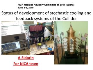 Status of development of stochastic cooling and feedback systems of the Collider