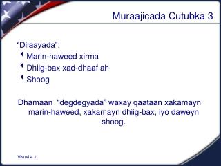 Muraajicada Cutubka 3