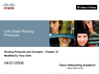 Link-State Routing Protocols