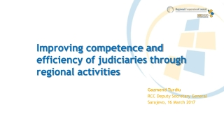Improving competence and efficiency of judiciaries through regional activities